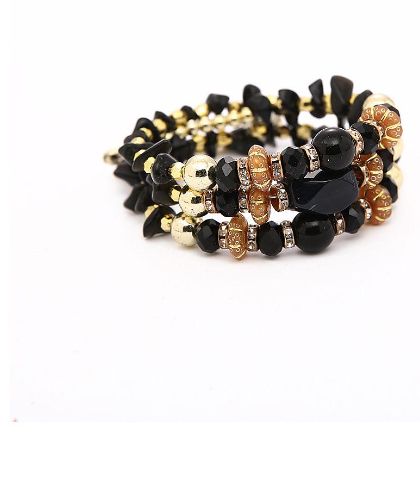 YOLO Fashion Beaded Elastic Multi-layer Bracelet Agate Stone Winding Bracelet Female Jewellry Accessories