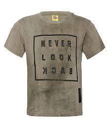 fb890481 Quick View. Punkster 100% Cotton Khakhi Half Sleeves T-Shirt For Boys