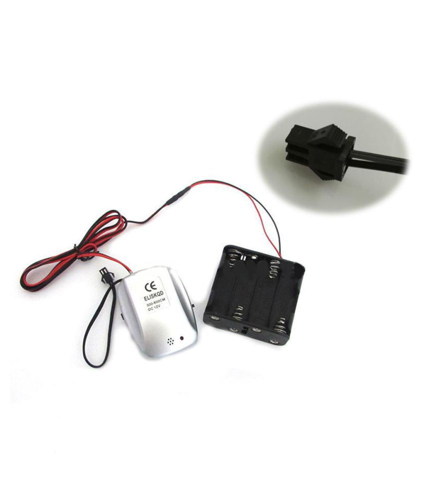 Battery Powered Voice Controller Power Supply LED Driver for 1-6M El Wire Light DC12V