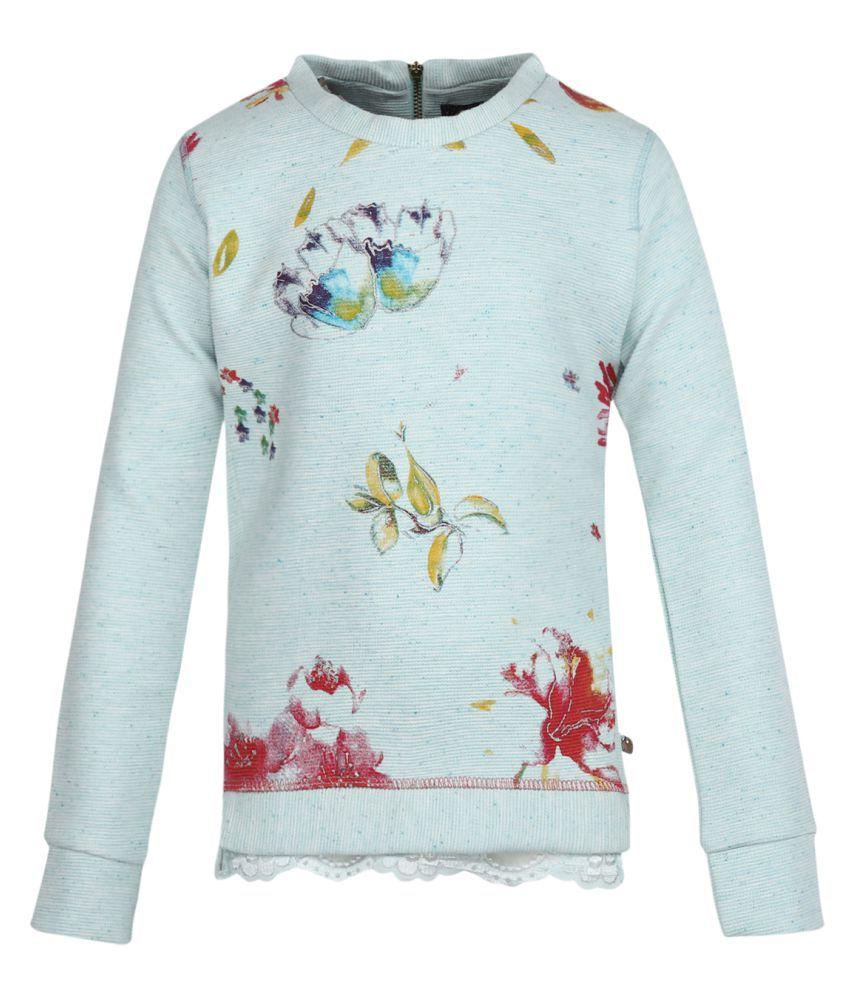 Monte Carlo Grey Printed Cotton Round Neck Sweatshirts