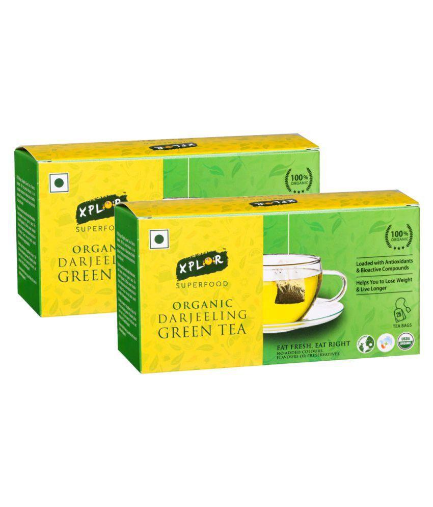 Xplor Darjeeling Tea Bags Organic Green Tea 50 no.s