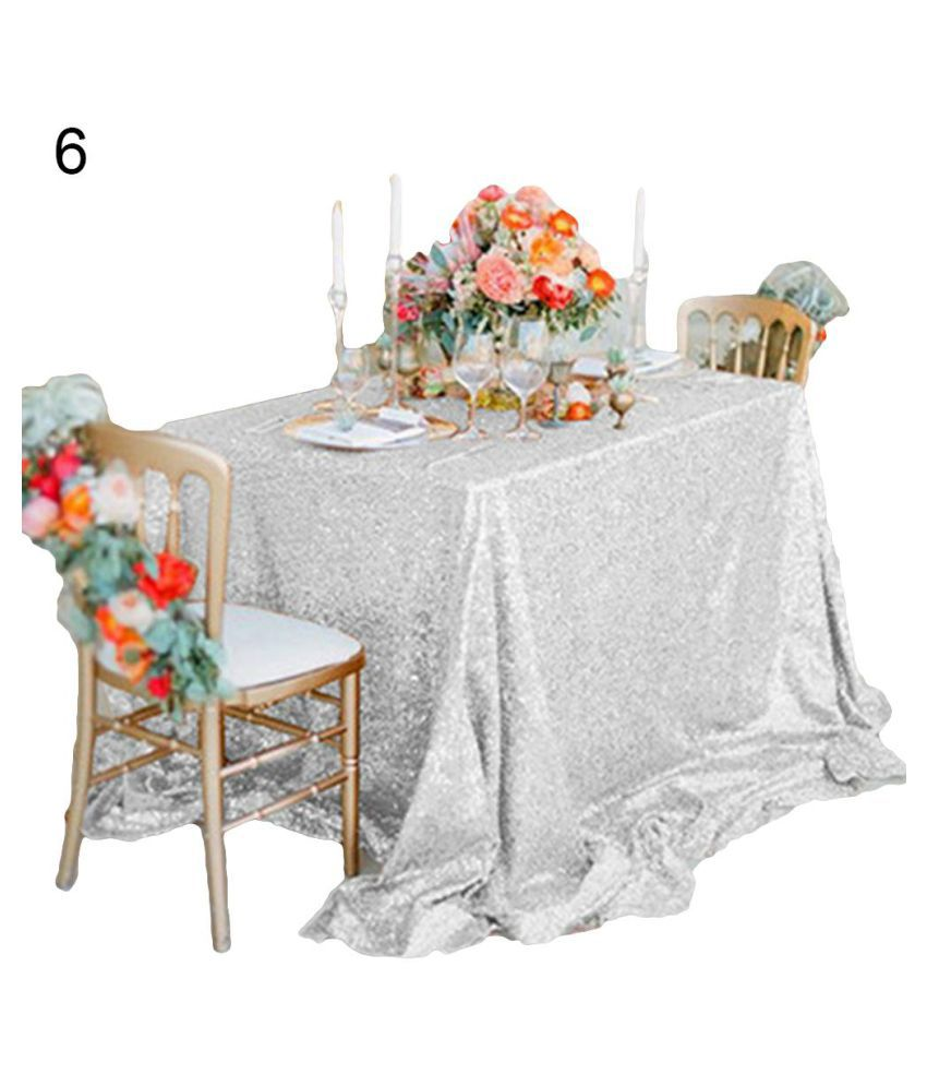 50x130cm Sparkly Sequin Tablecloth Cloth Cover Wedding Party Dinner Table Decor Buy 50x130cm Sparkly Sequin Tablecloth Cloth Cover Wedding Party Dinner Table Decor Online At Low Price Snapdeal