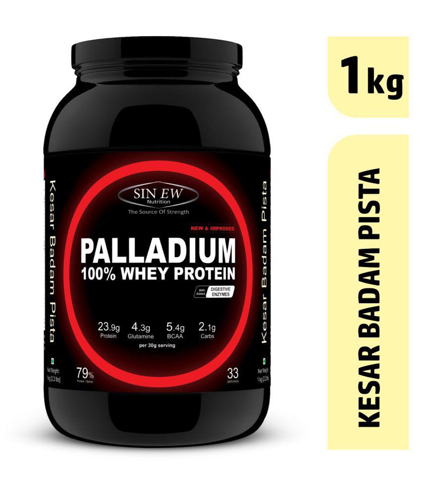 Sinew Nutrition Palladium Whey Protein (Kesar Pista Badam) 1 kg