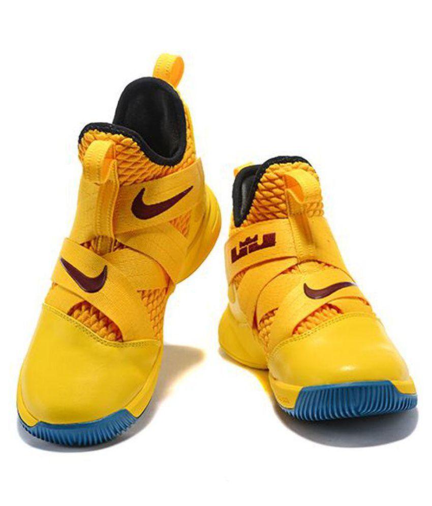best service 741ec 885cc Nike Nike Lebron Soldier 11 Blue Yellow Midankle Male Yellow