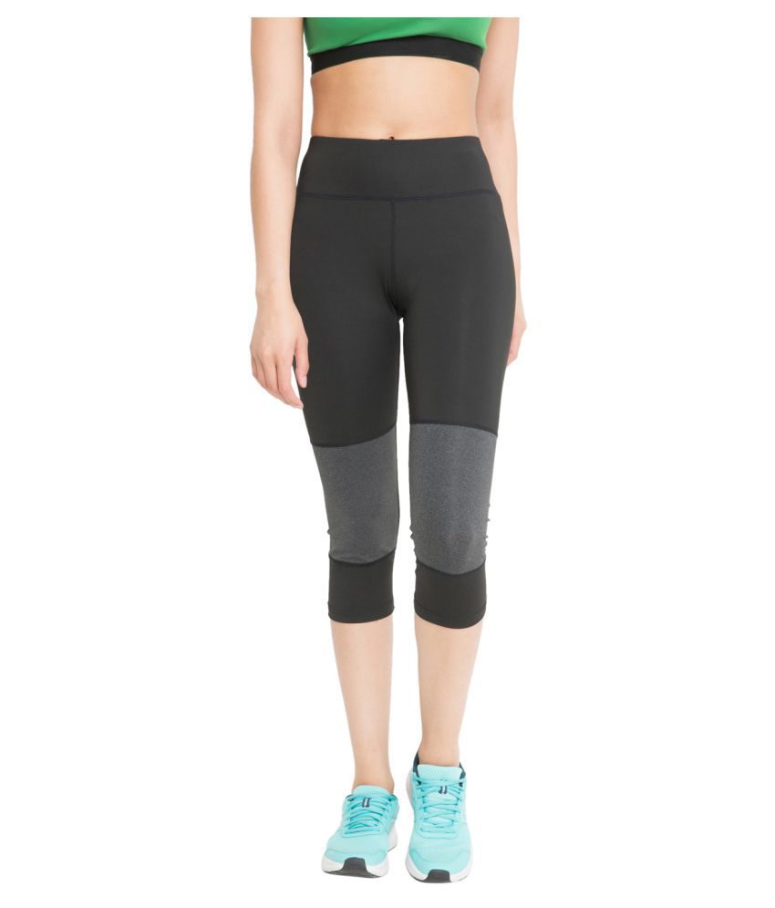 CHKOKKO Sportswear Stretchable Yoga Workout Gym Capri for Women