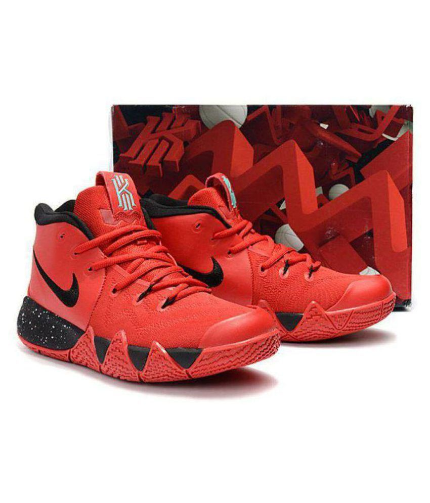separation shoes d4b3c 59013 Nike Nike Kyrie 4 Red Black New Midankle Male Red  Buy Online at Best Price  on Snapdeal