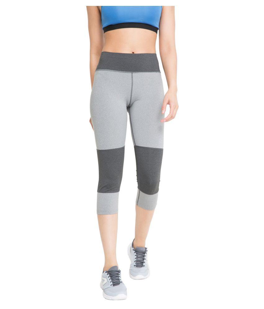 CHKOKKO Sportswear Stretchable Yoga Workout Gym Capri for Women