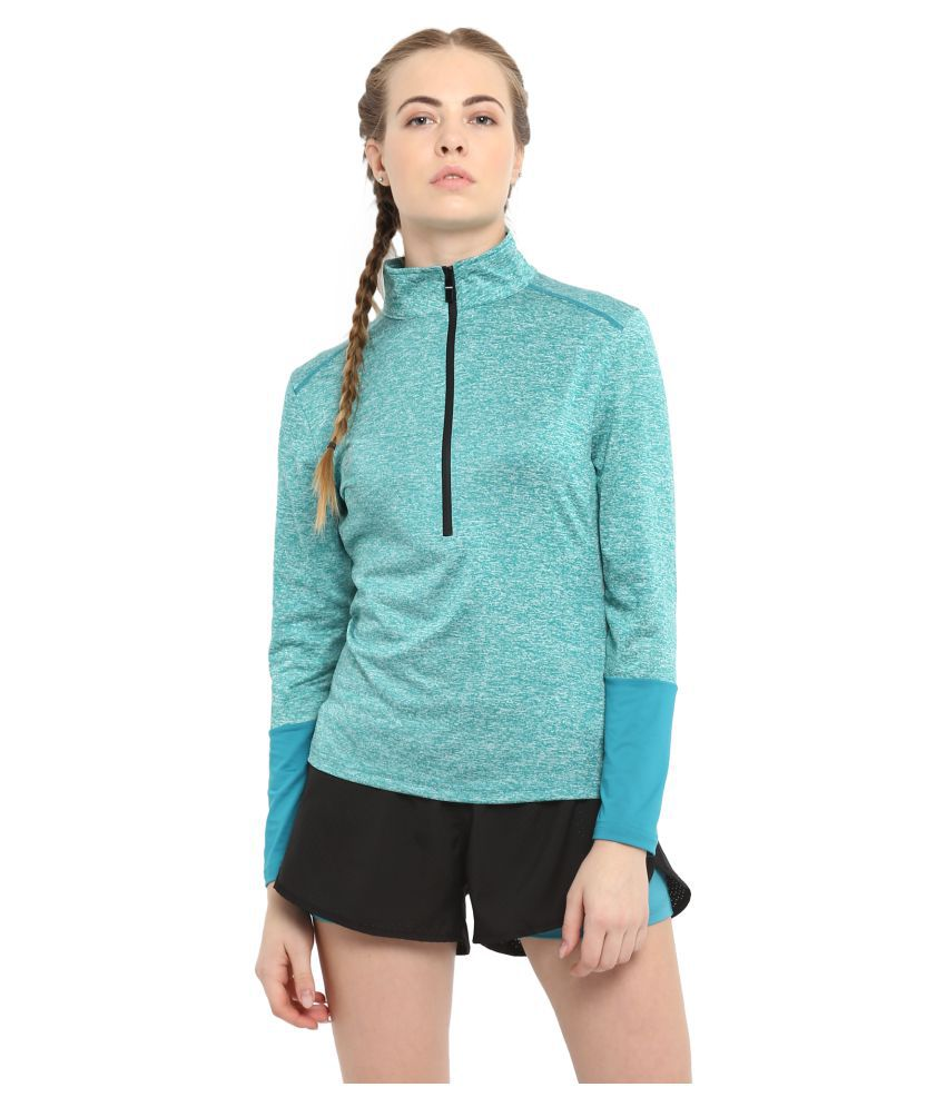CHKOKKO Sports Gym Running Half Sleeves Zipper Jacket Or Casual Sweatshirts for Women