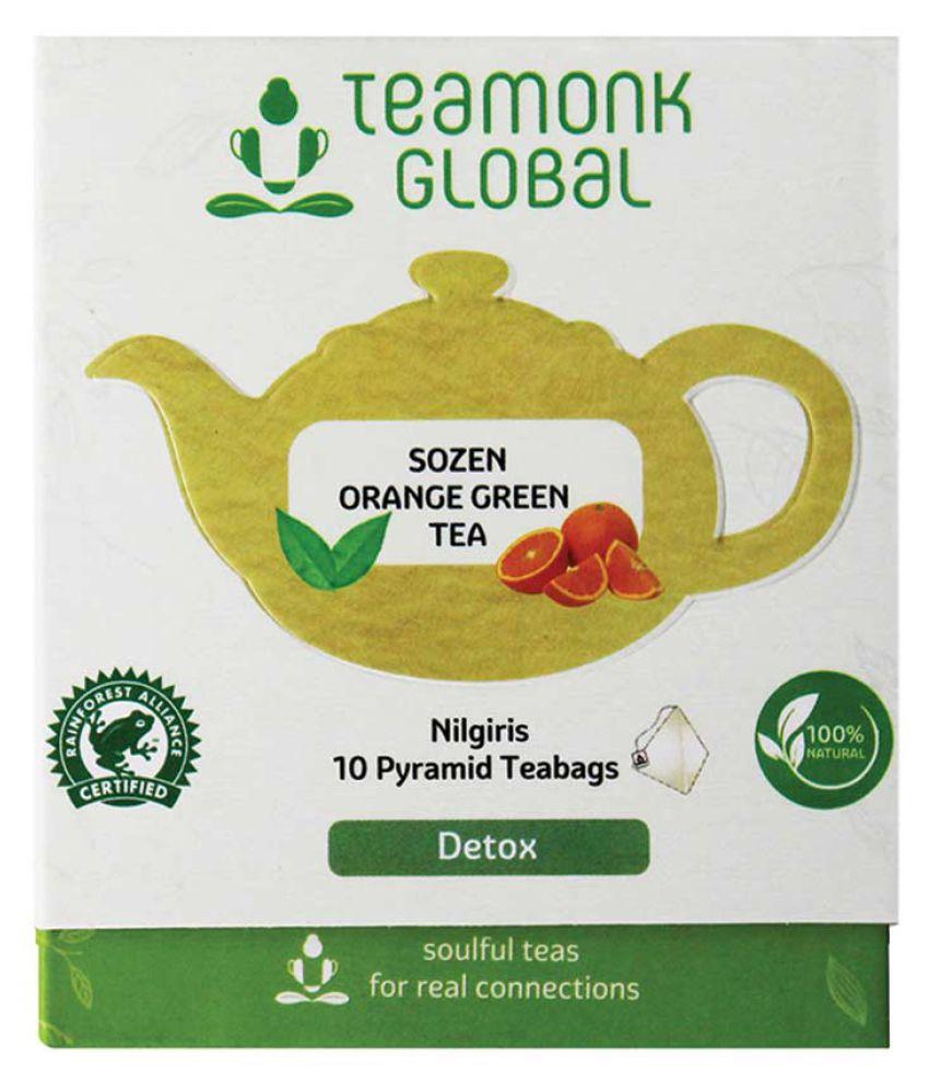Teamonk Sozen Nilgiri Orange Green Tea, 10 Teabags