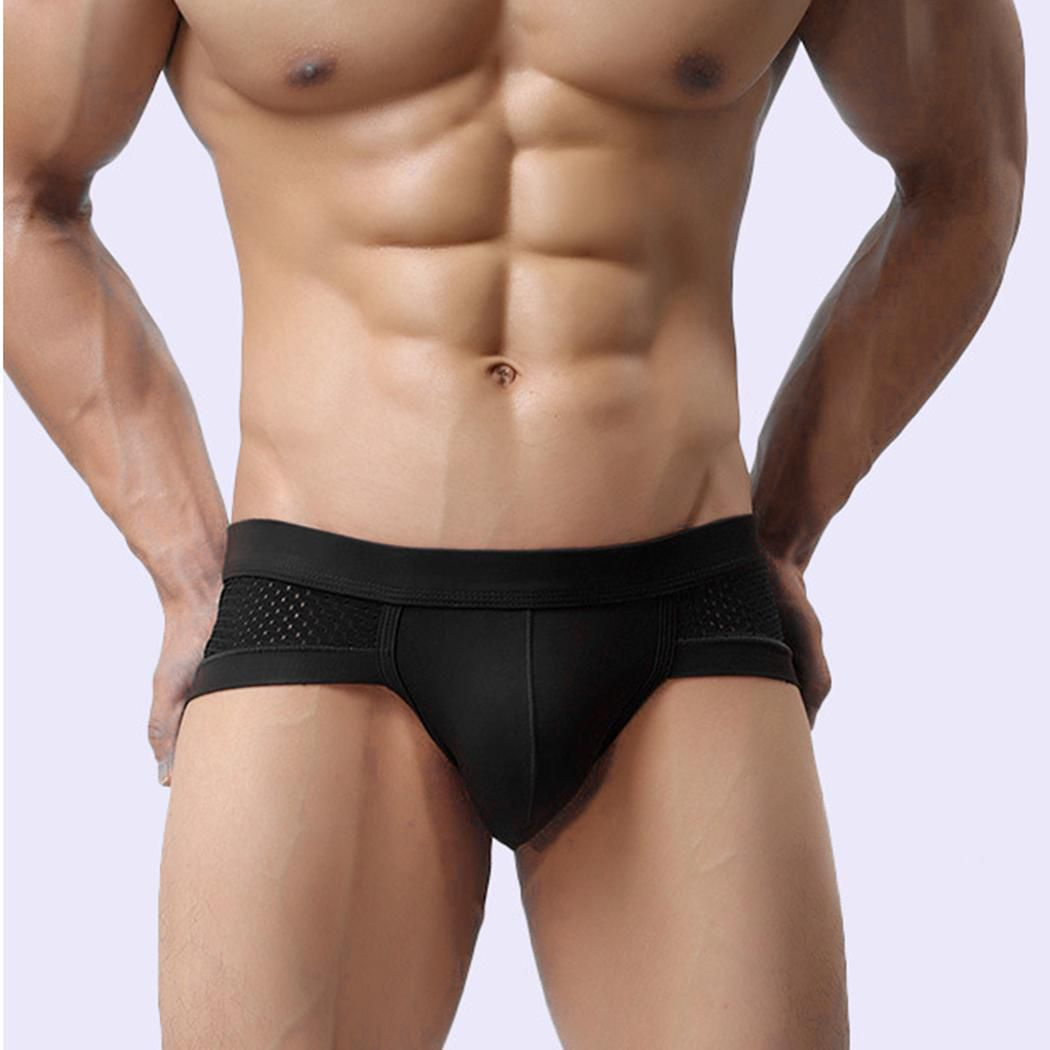 409ee25b2d6 ... Men Patchwork Sexy Breathable Comfortable Low Rise Underwear Briefs ...
