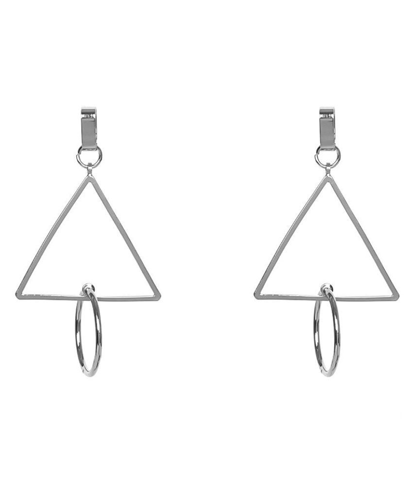 Triangle Circle Pendant Ear Studs Geometric Jewelry Fashion Women Earrings Gift