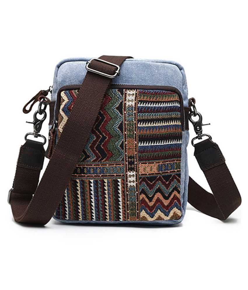 Crossbody Bags for Women, Brenice Vintage National Style Canvas Casual Crossbody Shoulder Bag