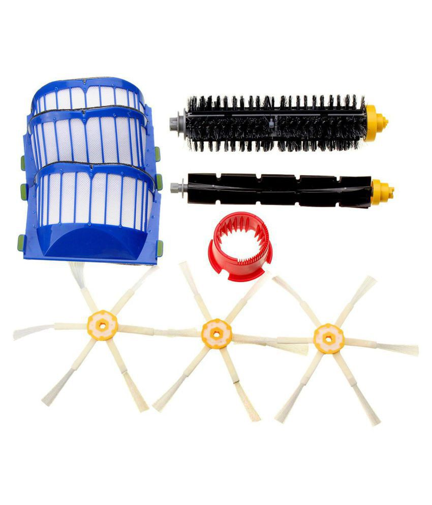Filters & 6-Armed Side Brush Kit for iRobot Roomba 600 Series 620 630 650 660