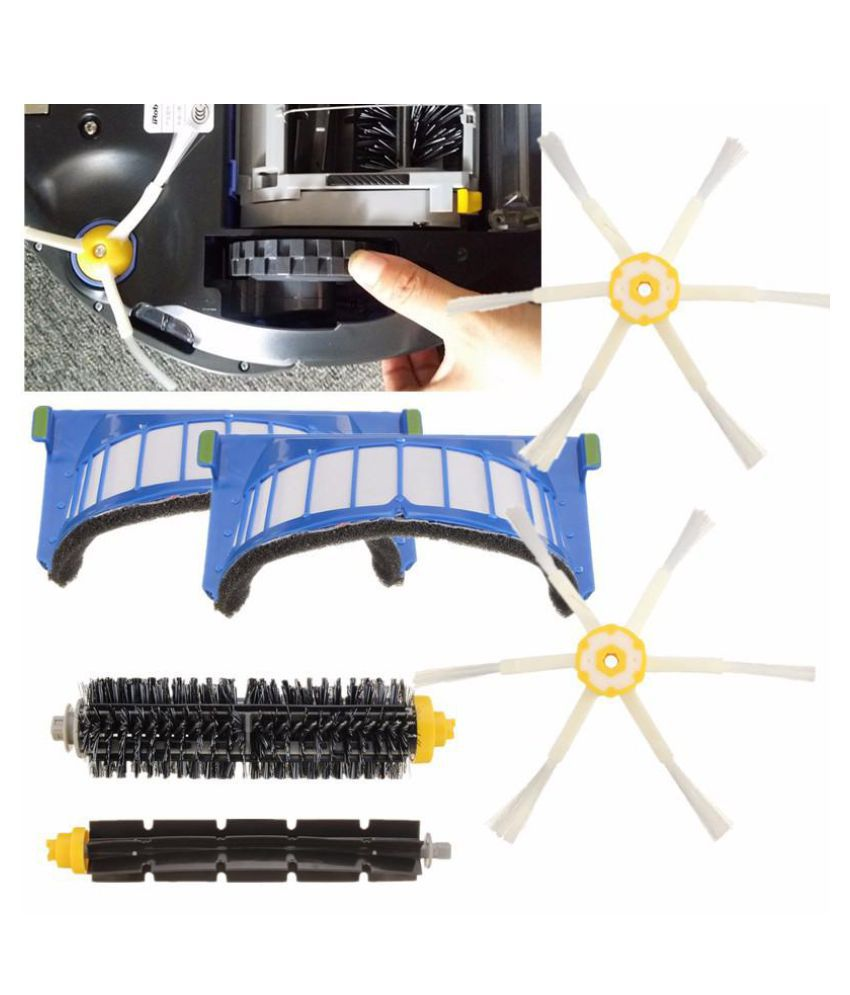 Filter Brush 6 Armed Side Kit For Irobot Roomba 600 Series 620 630 650 Parts