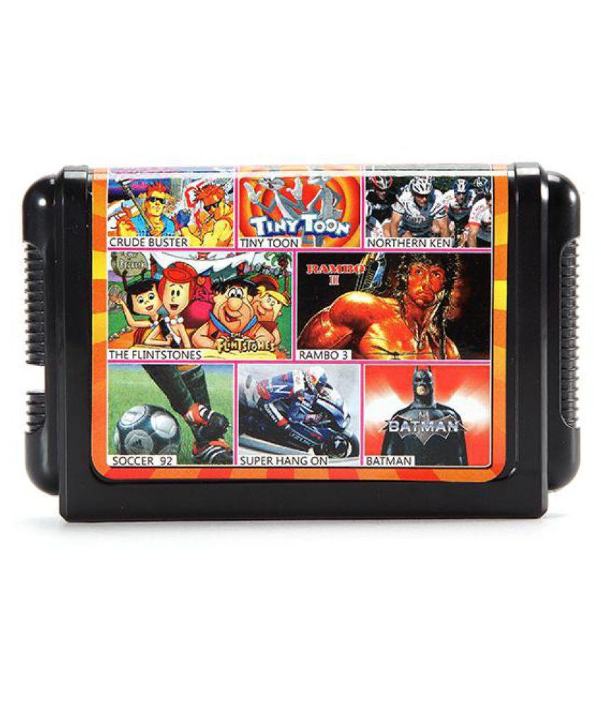 8 in 1 16 Bit Game Cartridges Classic TV Game for SEGA MD2 Game Console Black KE804 Card