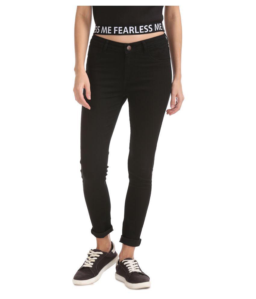 Flying Machine Cotton Jeans - Black