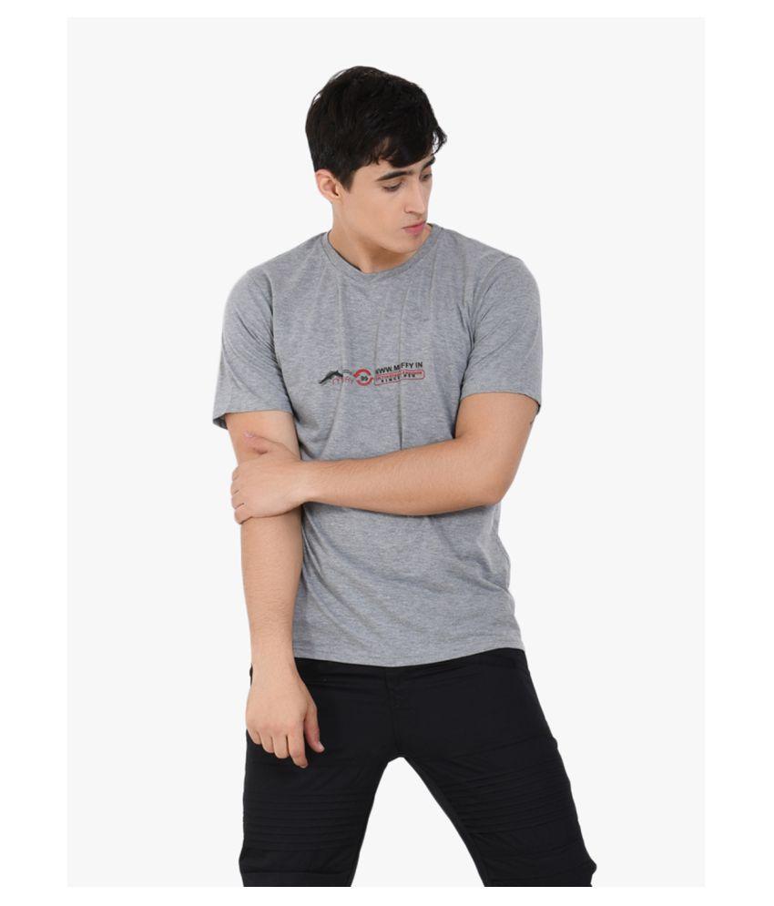 Muffy Polyester Cotton Grey Solids T-Shirt - Buy Muffy ...