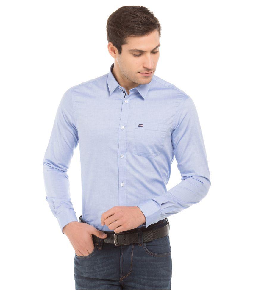 Arrow 100 Percent Cotton Blue Solids Shirt
