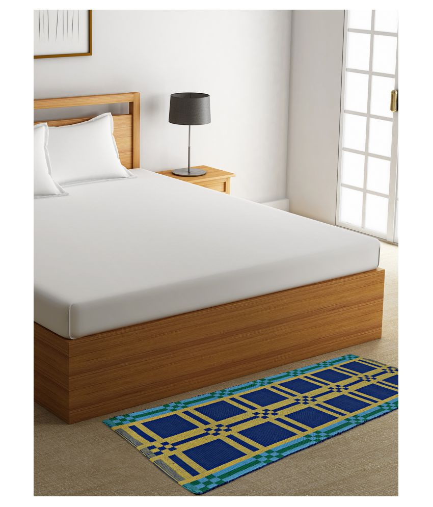 Dhrohar Blue Runner Single Cotton Abstract Other Sizes Ft