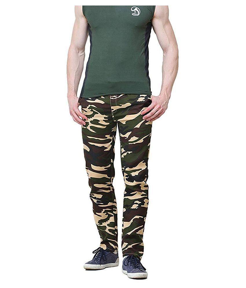 AGLOBI INDIAS NO-1 BRAND Beige Regular -Fit Flat Trousers