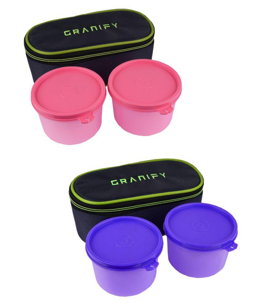 GRANIFY Multicolour Virgin Plastic Lunch Box