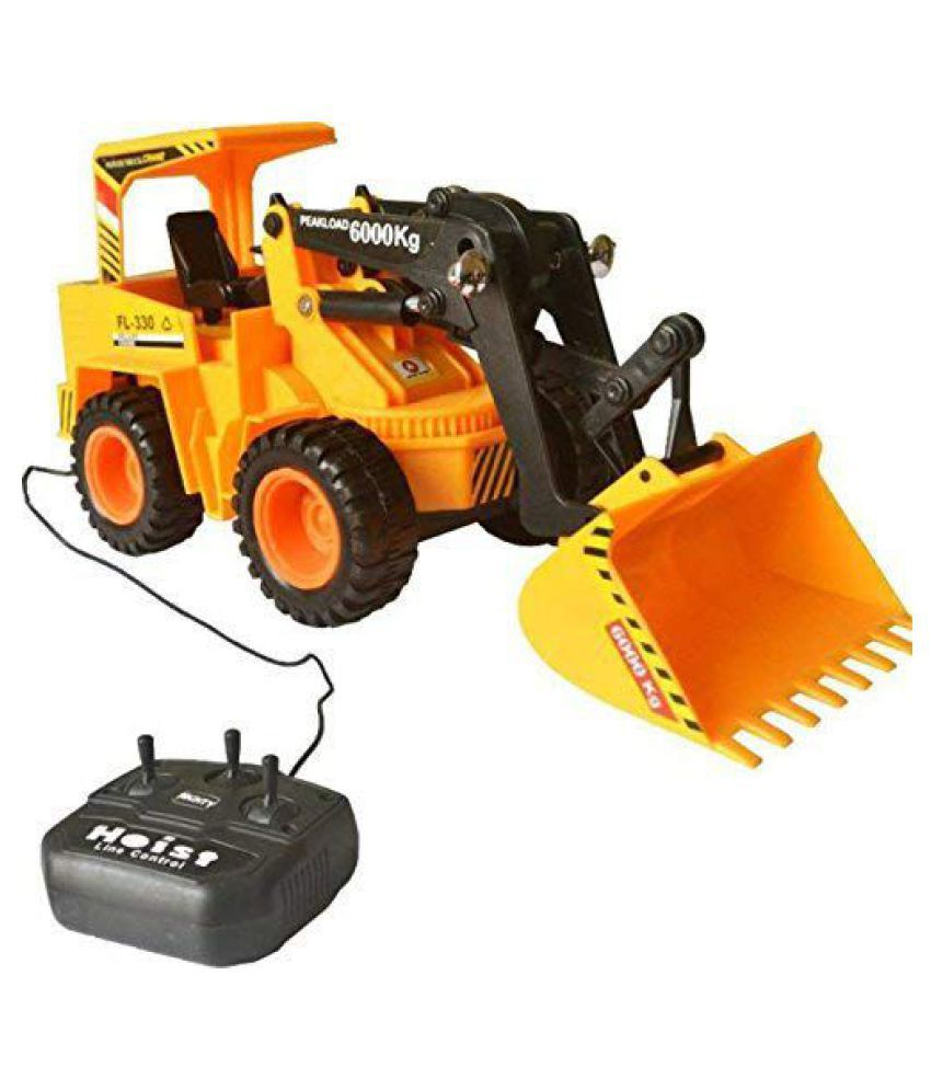 Remote Control JCB Construction Loader Excavator Truck Toy (Yellow)