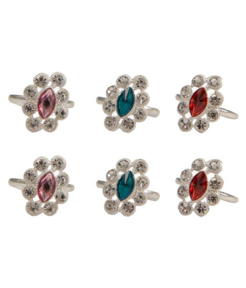 Taj Pearl Traditional Silver plated Toe rings
