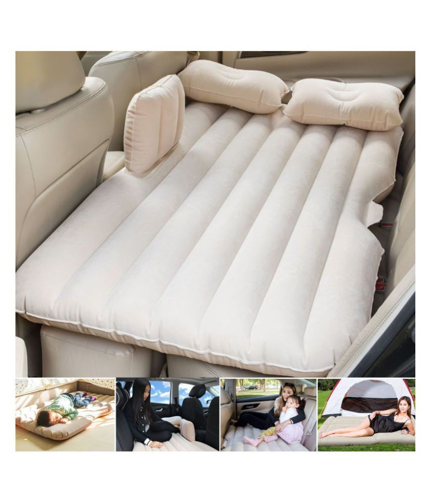 Car Inflatabale Air Bed PVC Inflatable Mattress Pillow with Repair Bag Compression Sacks