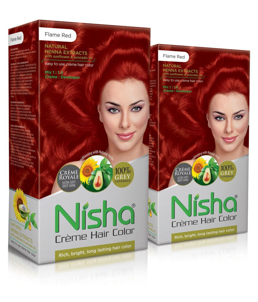 Nisha (60gm, 60ml, 12ml) Fashion Color Hair Color Corrector 320 g Pack of 2