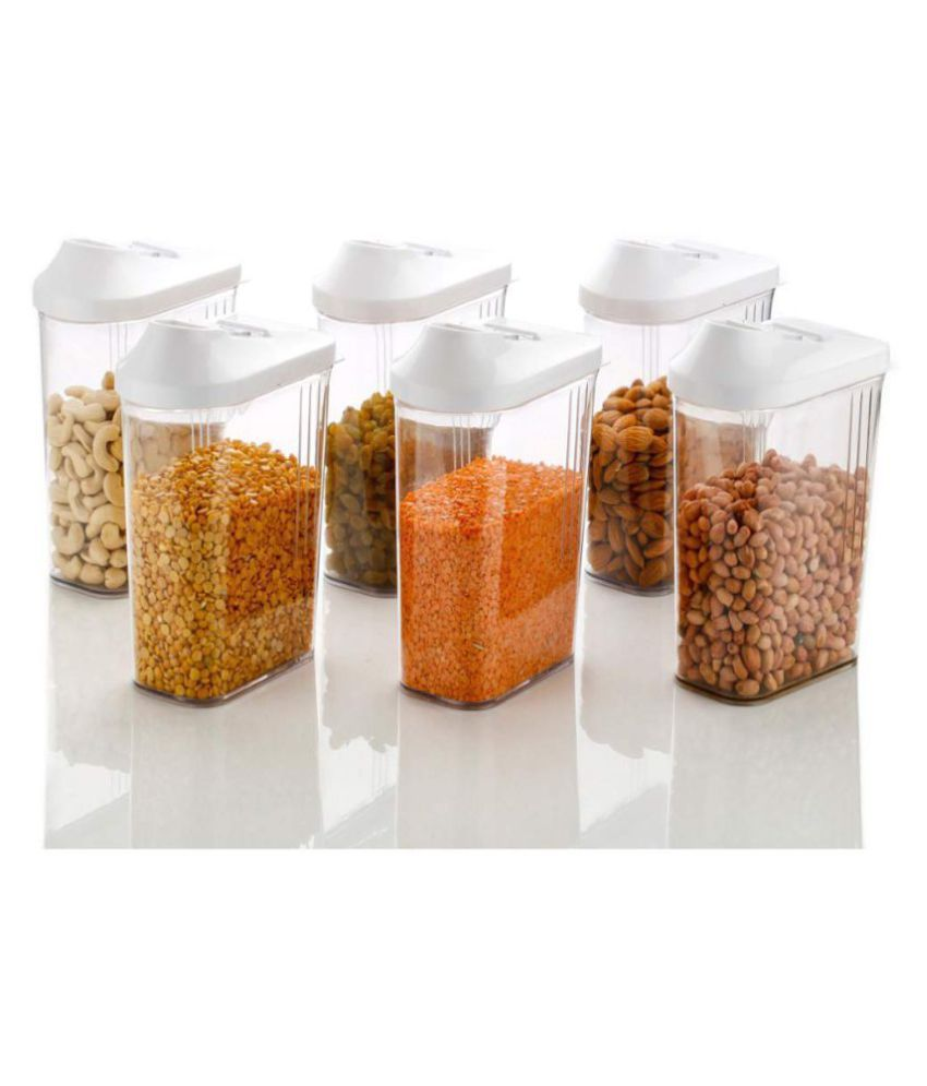 Kkart Easy Flow Polyproplene Food Container Set of 6 1100 mL