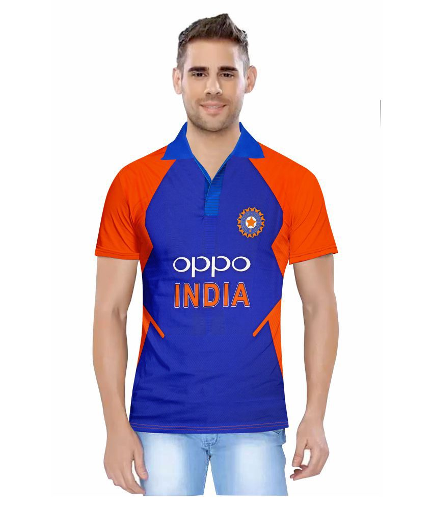 India Orange ODI 2019 Cricket World Cup Jersey