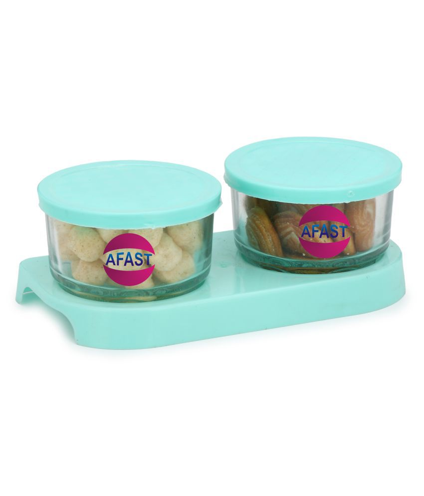 Somil Container With Lid Glass Oil Container/Dispenser Set of 1 200 mL