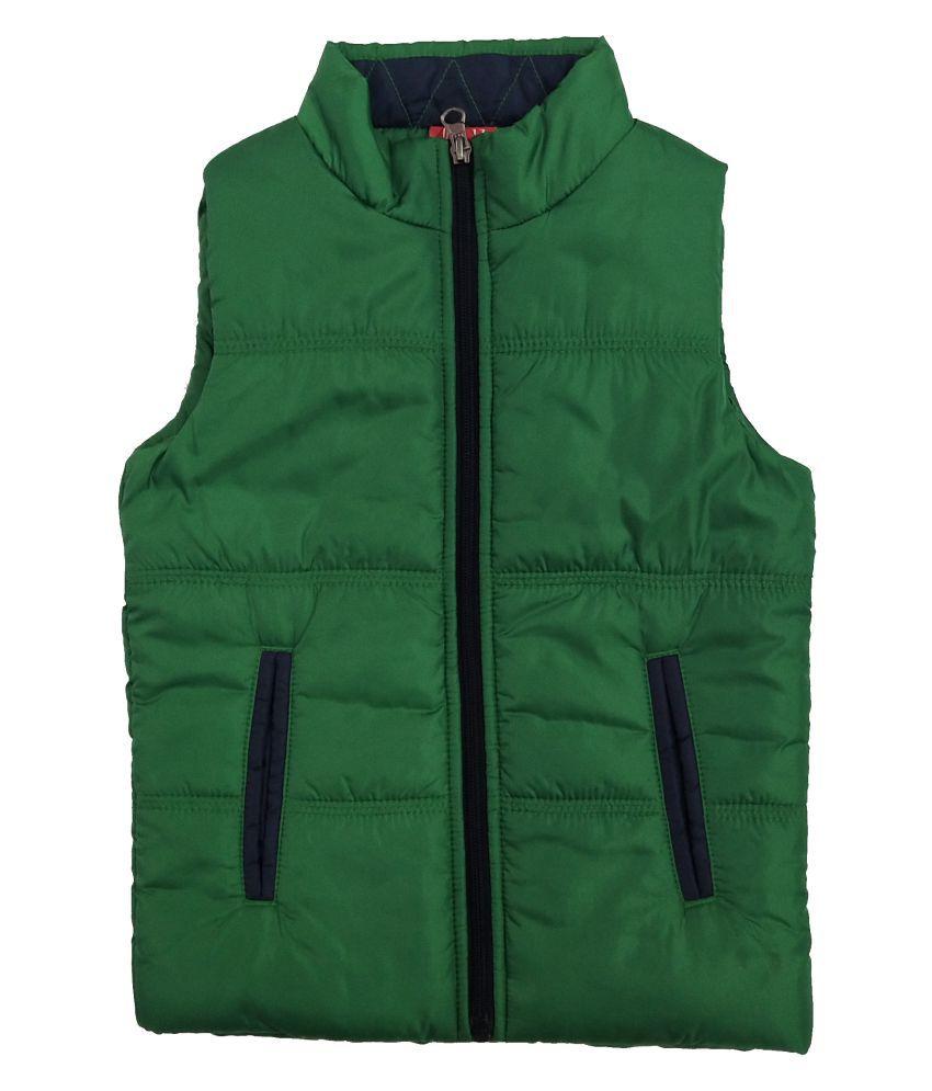 Kids-17 Boys Sleeveless High Neck Winter Jacket