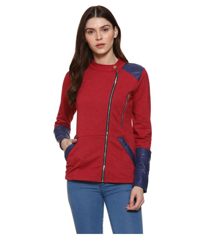 Campus Sutra Cotton Red Jackets