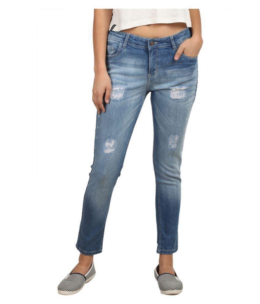 Curlx Fashion Denim Jeans - Blue