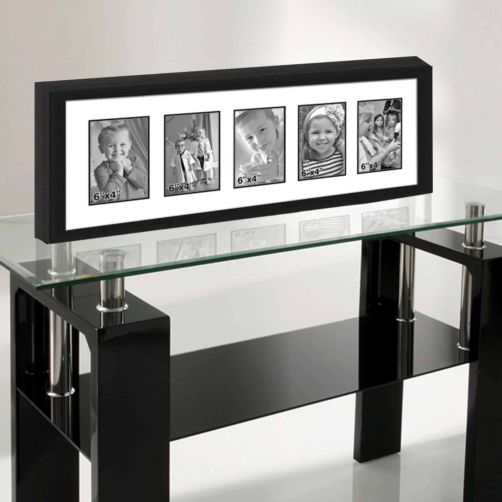Elegant Arts & Frames Wood Black Collage Photo Frame - Pack of 1