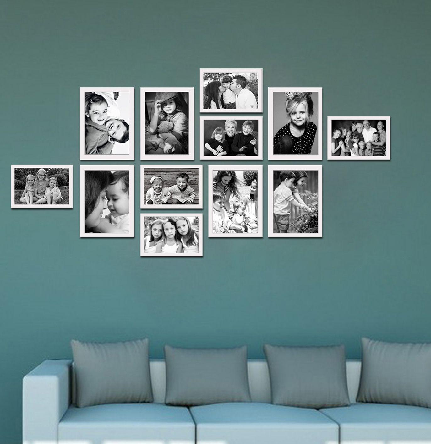Elegant Arts & Frames Wood White Collage Photo Frame - Pack of 1