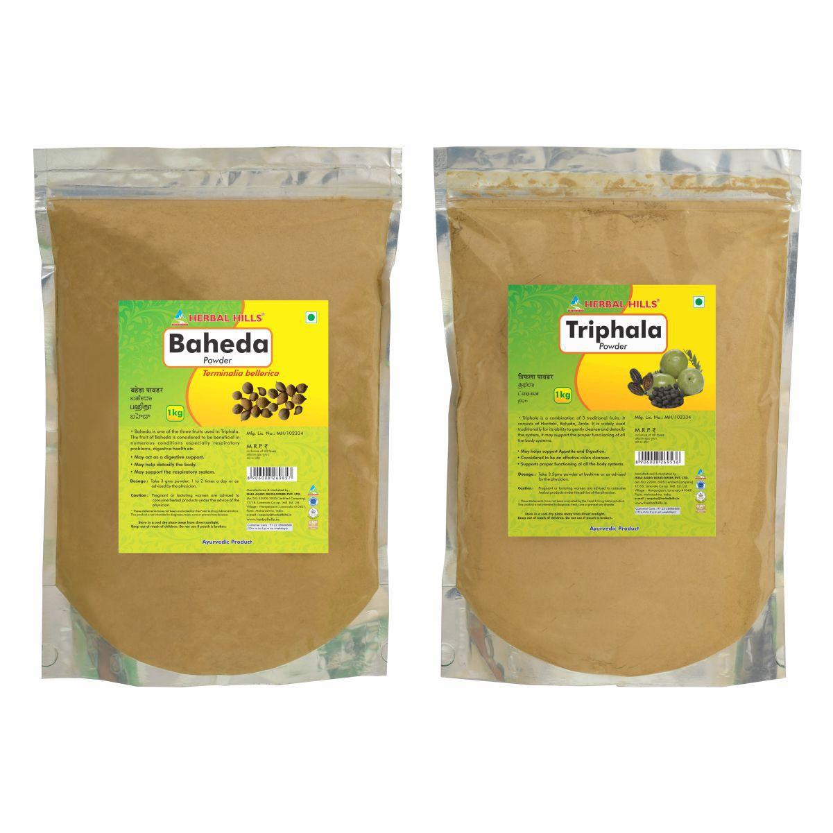 Herbal Hills Baheda and Triphala Powder 1 kg Pack Of 2