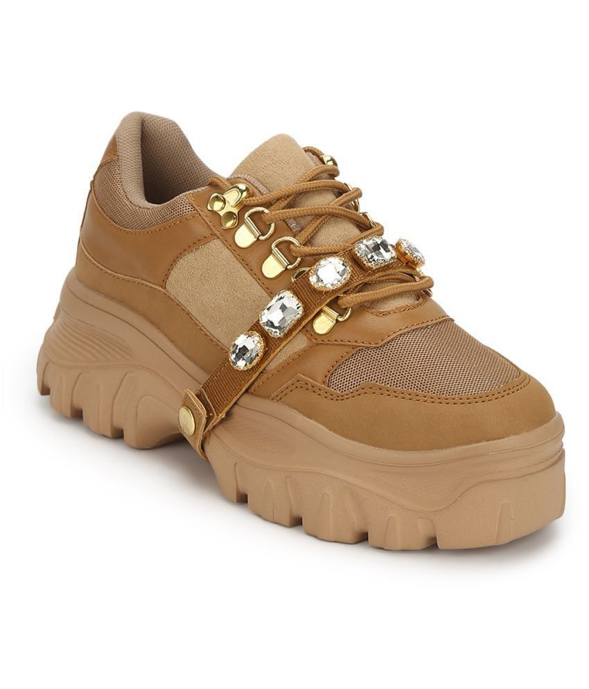 Truffle Collection Brown Casual Shoes