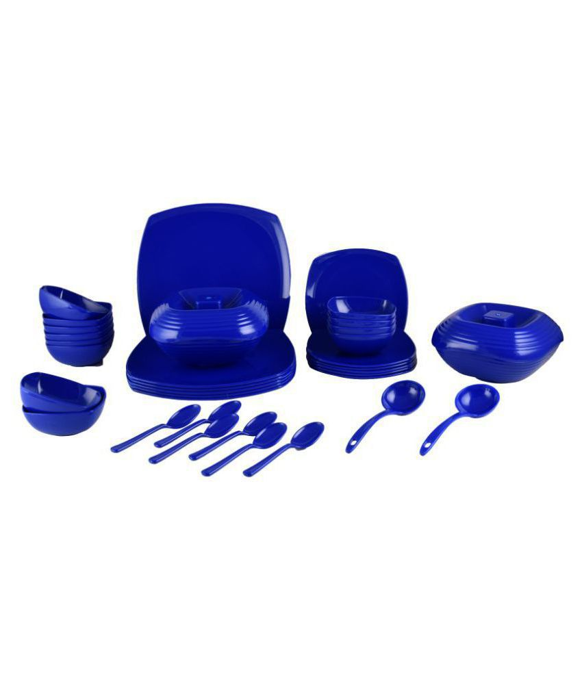 Homray Opulence  Plastic Dinner Set of 36 Pieces