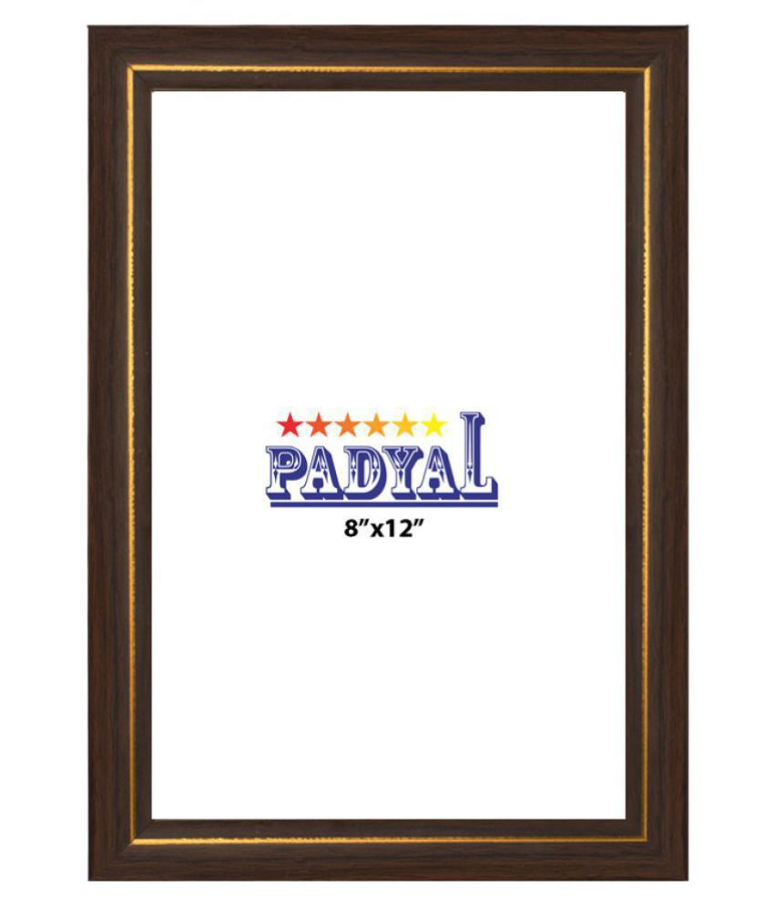 PADYAL Wood Table Top & Wall hanging Brown Single Photo Frame - Pack of 1