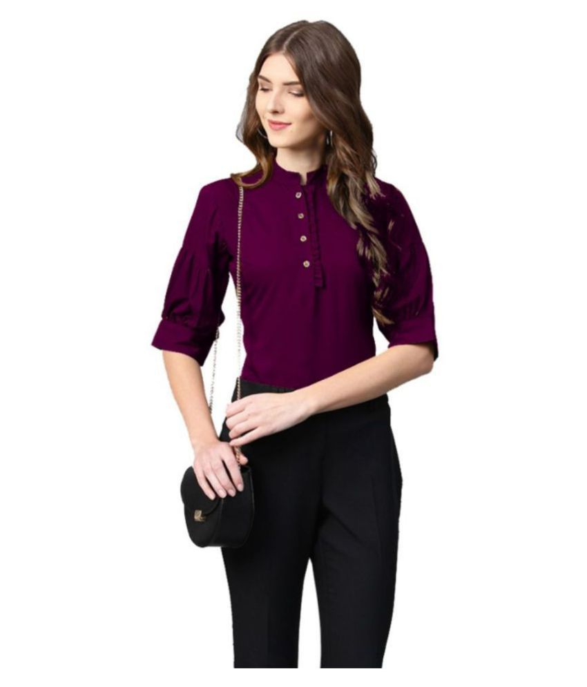 Yukon Purple Poly Crepe Shirt