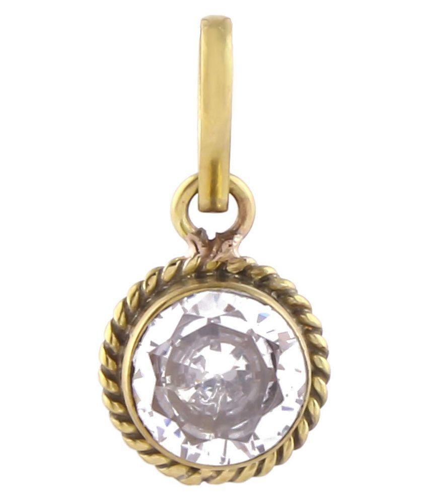 Swasti Retail 10.25 Ratti ZIRCON/TURASAVA Gemstone Pendant (PANCH DHAATU) For Men And Woman