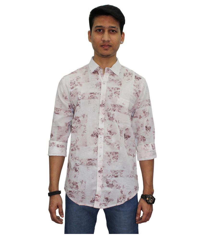 Southbay Linen White Prints Shirt