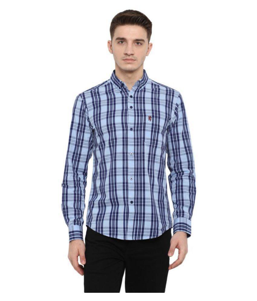 Red Tape 100 Percent Cotton Blue Checks Shirt