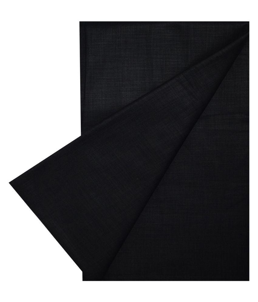KUNDAN SULZ GWALIOR Black Cotton Blend Unstitched Shirt pc