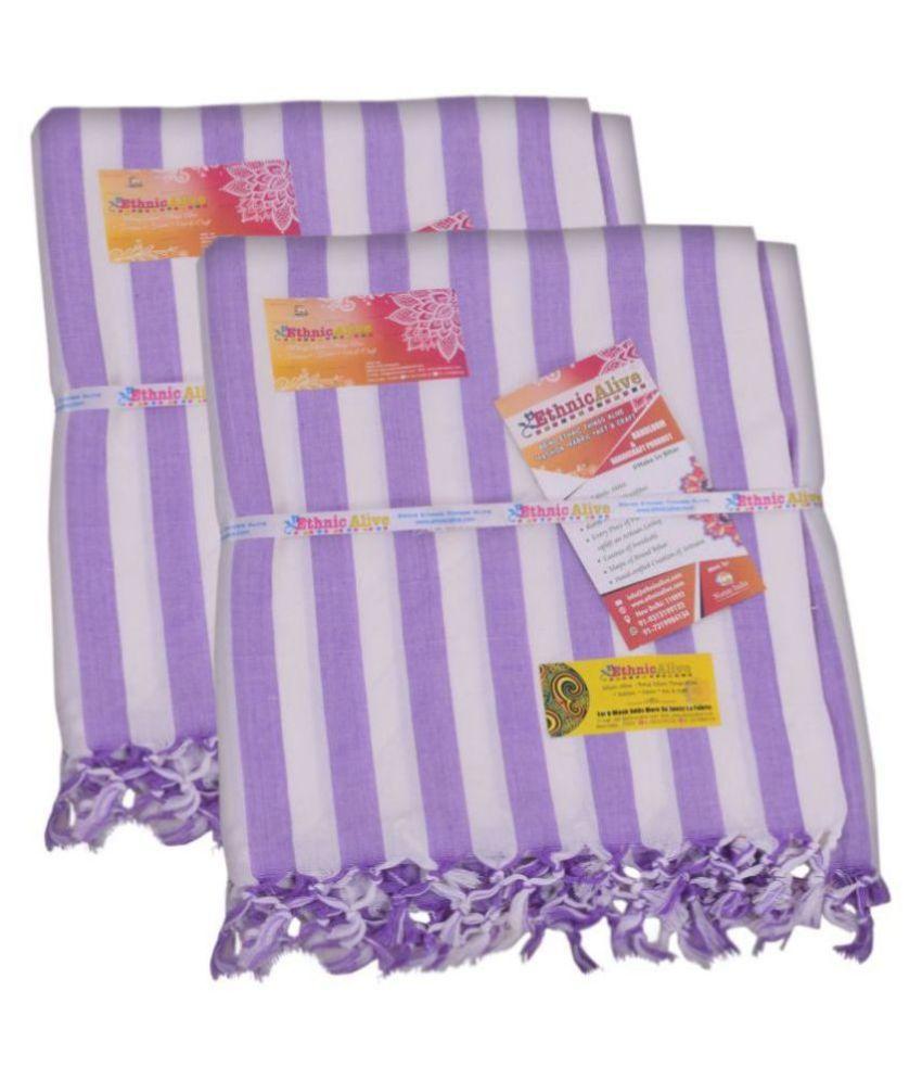 EthnicAlive Single Silk Stripes Blanket