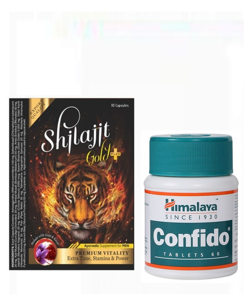 Cackle's Confido Tablet 60 no.s & Shilajit Gold + Capsule 10 no.s