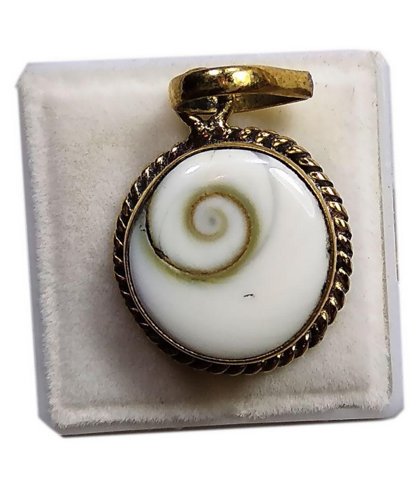 Natural Gomati Chakra Pendant Locket 5.83-7.22 Ratti 5.25-6.50 Carat Panchdhatu Metal Pendant Locket for Men and Women