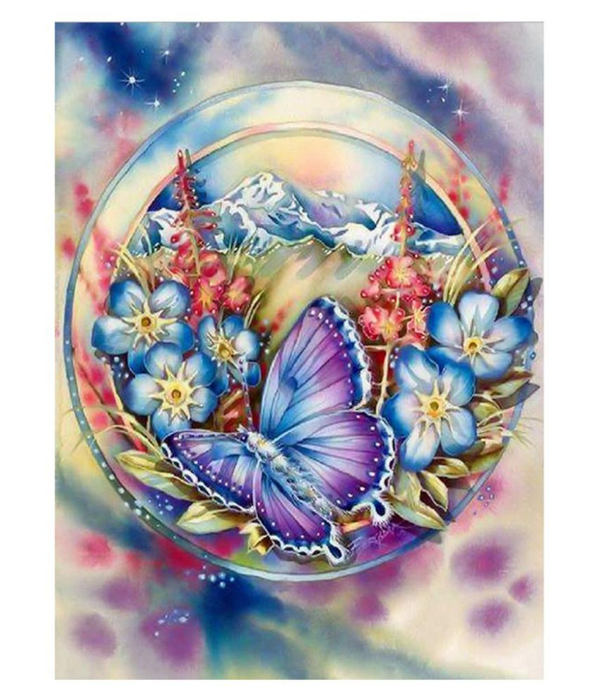 Cross Stitch DIY 5D Room Diamond Painting Butterfly Embroidery Craft Decor N3